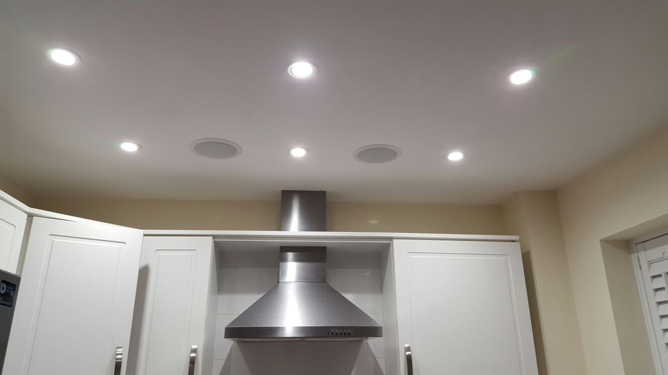 Kitchen Downlights and Recessed Ceiling Speakers